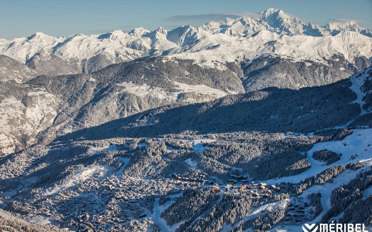 Snowy mountains, Hôtel Méribel, La Chaudanne.