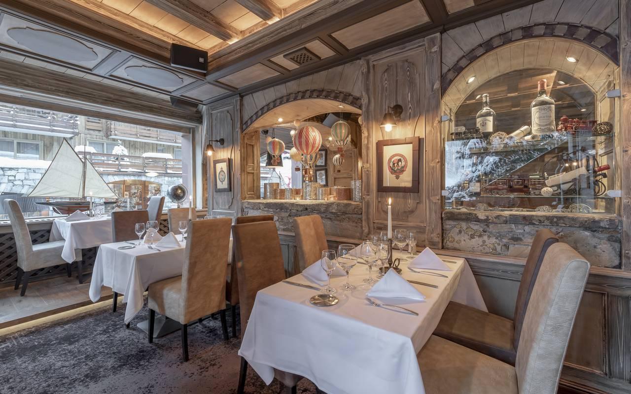 Restaurant Brasserie, Hôtel Méribel, La Chaudanne.