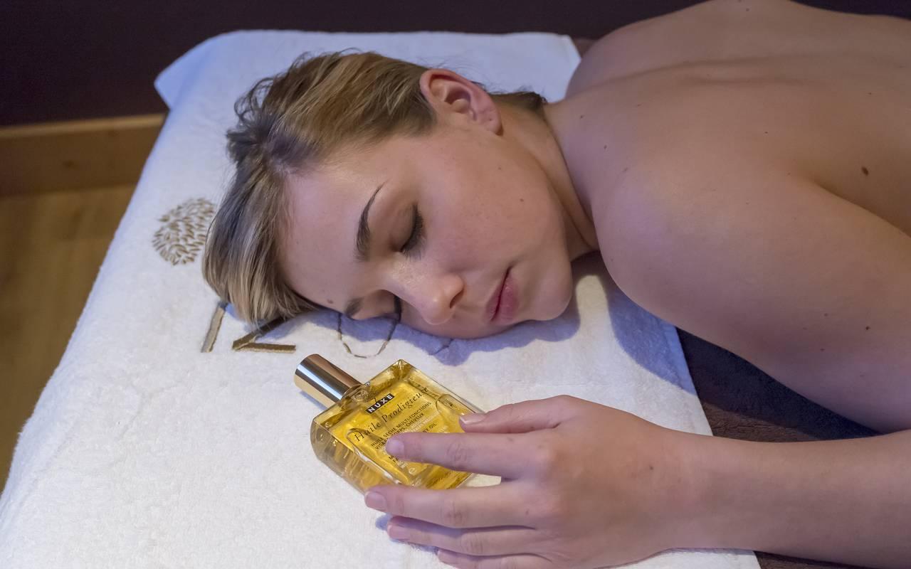 Massage à l'huile, Hôtel Méribel, La Chaudanne.