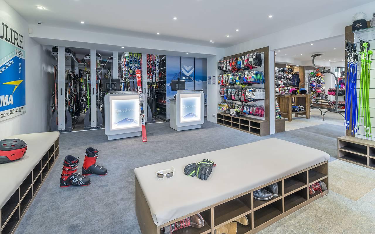 Ski shop, Hôtel Méribel, La Chaudanne.
